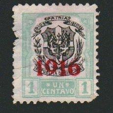 Sellos: REPÚBLICA DOMINICANA.HABILITADO 1916- 1 CENTAVOS..USADO.. Lote 77243237