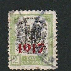 Sellos: REPÚBLICA DOMINICANA.HABILITADO 1917- 2 CENTAVOS.USADO.. Lote 77244085