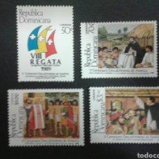 Sellos: SELLOS DE REP. DOMINICANA. YVERT 1063/6. SERIE COMPLETA . DESCUBRIMIENTO DE AMÉRICA. COLÓN.. Lote 80160873