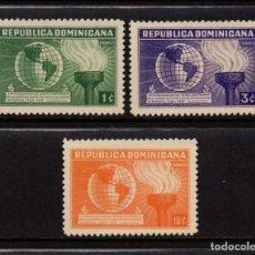 Sellos: DOMINICANA 306/08** - AÑO 1938 - 150º ANIVERSARIO DE LA CONSTITUCIÓN DE ESTADOS UNIDOS. Lote 82365220