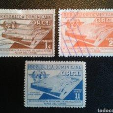 Sellos: REPÚBLICA DOMINICANA. YVERT 442/3 ° + A-100 * SERIE COMPLETA. AEROPUERTO. . Lote 86793486
