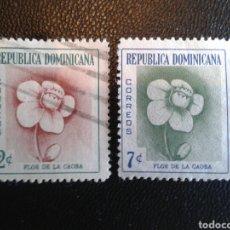 Sellos: REPÚBLICA DOMINICANA. YVERT 467/8. SERIE COMPLETA USADA. FLORA.. Lote 86793783