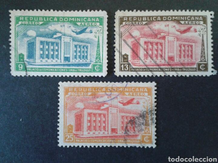 REPÚBLICA DOMINICANA. YVERT A-54/6. SIN A.57. SERIE CORTA USADA. (Sellos - Extranjero - América - República Dominicana)