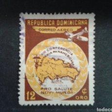 Sellos: REPÚBLICA DOMINICANA. YVERT A-82. SERIE COMPLETA USADA.. Lote 86903747