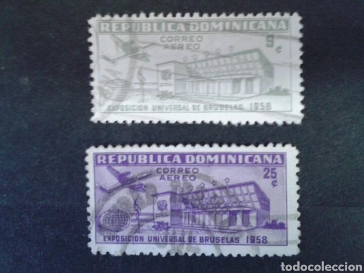 REPÚBLICA DOMINICANA. YVERT A-132/3. SERIE COMPLETA USADA. EXPO BRUSELAS 1958. (Sellos - Extranjero - América - República Dominicana)