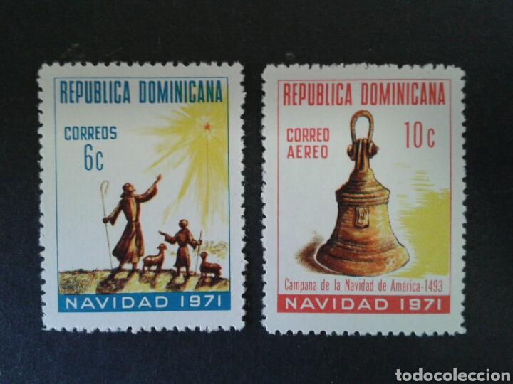 REPÚBLICA DOMINICANA. YVERT 702 + A-228. SERIE COMPLETA NUEVA SIN CHARNELA. NAVIDAD. (Sellos - Extranjero - América - República Dominicana)