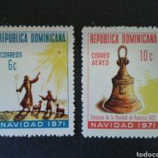 Sellos: REPÚBLICA DOMINICANA. YVERT 702 + A-228. SERIE COMPLETA NUEVA SIN CHARNELA. NAVIDAD. . Lote 86942894