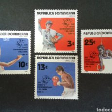 Sellos: REPÚBLICA DOMINICANA. YVERT 890 + A-413/5. SERIE COMPLETA NUEVA SIN CHARNELA. DEPORTES. Lote 86974847