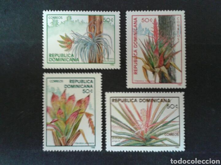 REPÚBLICA DOMINICANA. YVERT 1005 A/D. SERIE COMPLETA NUEVA SIN CHARNELA. FLORA. (Sellos - Extranjero - América - República Dominicana)