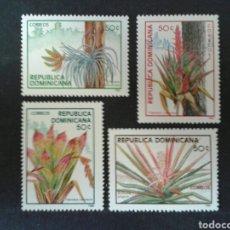 Sellos: REPÚBLICA DOMINICANA. YVERT 1005 A/D. SERIE COMPLETA NUEVA SIN CHARNELA. FLORA. . Lote 86975151