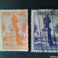 Sellos: REPÚBLICA DOMINICANA. YVERT 305/6. SERIE COMPLETA USADA.. Lote 86977558