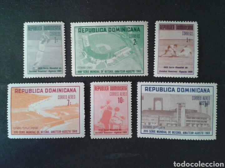 REPÚBLICA DOMINICANA. YVERT 675/7 + A-208/10. SERIE COMPLETA NUEVA SIN CHARNELA. DEPORTES. BÉISBOL (Sellos - Extranjero - América - República Dominicana)