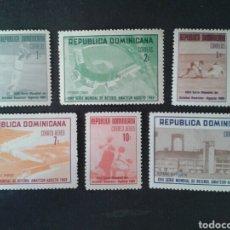 Sellos: REPÚBLICA DOMINICANA. YVERT 675/7 + A-208/10. SERIE COMPLETA NUEVA SIN CHARNELA. DEPORTES. BÉISBOL. Lote 86985551