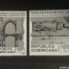 Sellos: REPÚBLICA DOMINICANA. YVERT 1469/70. SERIE COMPLETA NUEVA SIN CHARNELA. AMÉRICA UPAEP.. Lote 87018248