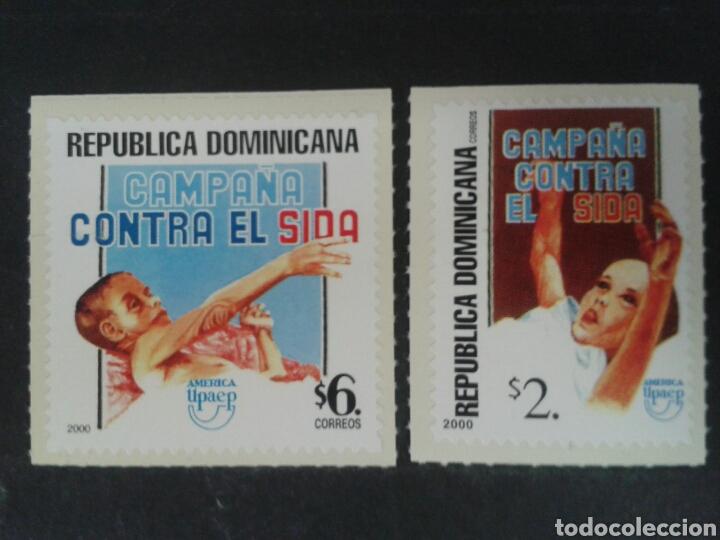 REPÚBLICA DOMINICANA. YVERT 1449/50. SERIE CTA NUEVA SIN CHARNELA. AMÉRICA UPAEP. SIDA. MEDICINA (Sellos - Extranjero - América - República Dominicana)