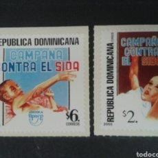 Sellos: REPÚBLICA DOMINICANA. YVERT 1449/50. SERIE CTA NUEVA SIN CHARNELA. AMÉRICA UPAEP. SIDA. MEDICINA. Lote 87018446