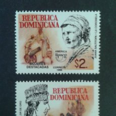 Sellos: REPÚBLICA DOMINICANA. YVERT 1319/20. SERIE COMPLETA NUEVA SIN CHARNELA. AMÉRICA UPAEP.. Lote 87018752
