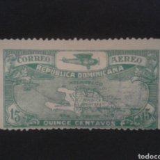Sellos: REPÚBLICA DOMINICANA. YVERT A -5. SELLO SUELTO USADO. MAPAS. AVIONES. Lote 87126139