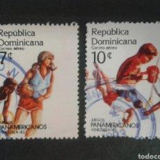 Sellos: REPÚBLICA DOMINICANA. YVERT A-432/3. FALTA EL 434. SERIE CORTA USADA. DEPORTES. Lote 87163900