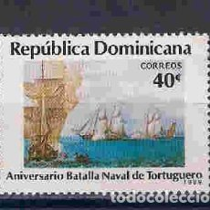 Sellos: BARCOS EN GUERRA. REP.DOMINICANA. SELLO AÑO 1989. Lote 91443315