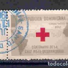 Sellos: CRUZ ROJA EN REP.DOMINICANA. SELLO AÑO 1963. Lote 93735990