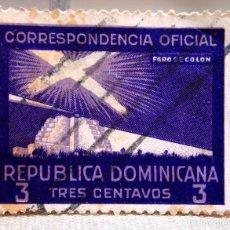 Sellos: SELLO REPUBLICA DOMINICANA, CORRESPONDENCIA OFICIAL, USADO, CON CHARNELA, 1939. Lote 102448971