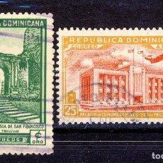 Sellos: REPÚBLICA DOMINICANA.-RUINAS DE S. FRANCISCO Y PALACIO DE COMUNICACIONES.-. Lote 109292107