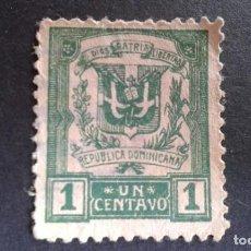 Sellos: REPÚBLICA DOMINICANA,1924-1930,ESCUDO,YVERT 207,SCOTT 233,USADO,(LOTE AG). Lote 128656611