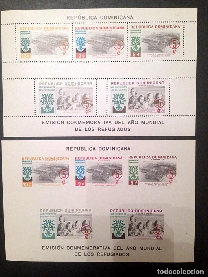 REPUBLICA DOMINICANA.AÑO 1960.HOJAS BLOQUE NUEVAS.REFUGIADOS (Sellos - Extranjero - América - República Dominicana)