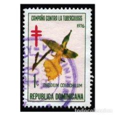 Sellos: REPÚBLICA DOMINICANA 1976. MI Z67. TUBERCULOSIS.FLORES . ORQUÍDEA. USADO. Lote 141928330