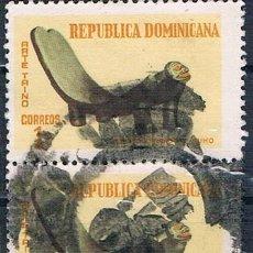 Sellos: REPÚBLICA DOMINICANA 1969 SELLO USADO Y 670 BLOQUE DE DOS. Lote 145023034