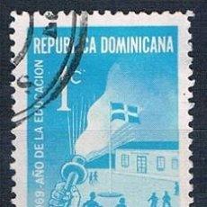 Sellos: REPÚBLICA DOMINICANA 1969 SELLO USADO Y B34. Lote 145023050