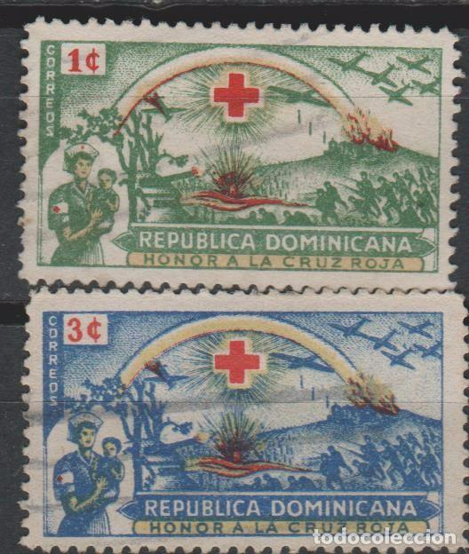 LOTE 6 SELLOS CRUZ ROJA REPUBLICA DOMINICANA (Sellos - Extranjero - América - República Dominicana)