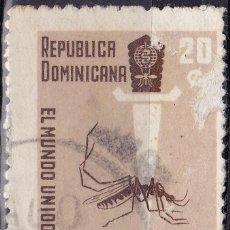 Sellos: 1962 - REPUBLICA DOMINICANA - CAMPAÑA MUNDIAL CONTRA EL PALUDISMO - YVERT 567. Lote 149956202