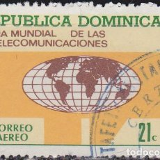 Sellos: 1972 - REPUBLICA DOMINICANA - DIA MUNDIAL DE LAS TELECOMUNICACIONES - YVERT PA 235. Lote 149957246