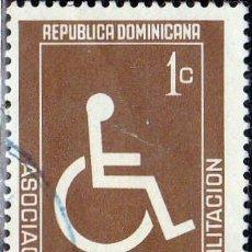 Sellos: 1975 - REPUBLICA DOMINICANA - BENEFICIENCIA - REHABILITACION INVALIDEZ - MICHEL Z 62. Lote 149959550