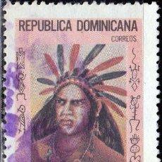 Sellos: 1975 - REPUBLICA DOMINICANA - GUARIONEX - CACIQUE TAINO - MICHEL 1099. Lote 214596837