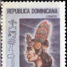 Sellos: 1975 - REPUBLICA DOMINICANA - CAONABO - CACIQUE CARIBE - MICHEL 1100. Lote 149961578