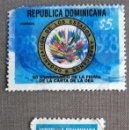 Sellos: REPÚBLICA DOMINICANA, 2 SELLOS USADOS . Lote 152740042