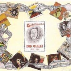 Sellos: JAMAICA: HOJA BOB MARLEY. MNH.. Lote 153551826