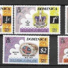 Sellos: DOMINICA Nº 540 AL 544 (**). Lote 180476726