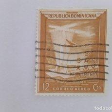 Sellos: REPÚBLICA DOMINICANA SELLO USADO SEÑAL CHARNELA. Lote 181112918