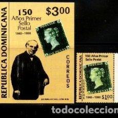 Sellos: R. DOMINICANA 1990 ANIVERSARIO DEL SELLO ** . Lote 191363898
