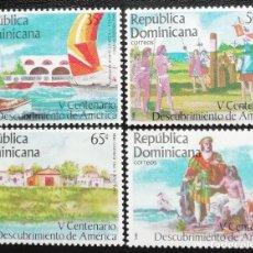 Sellos: 1985. REP. DOMINICANA. 974 A / 974 D. 500 AÑOS DEL DESCUBRIMIENTO DE AMÉRICA. SERIE COMPLETA. NUEVO.. Lote 191805950