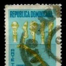 Sellos: REP. DOMINICANA SCOTT: C164-(1969) (CORREO AÉREO) (ARTE TAINO) USADO. Lote 191929620