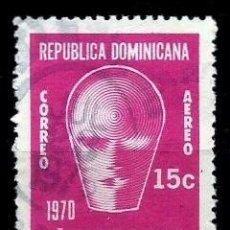 Sellos: REP. DOMINICANA SCOTT: C180-(1970) (CORREO AÉREO) (UNESCO. AÑO INTERN. DE LA EDUCACION) USADO. Lote 191930282