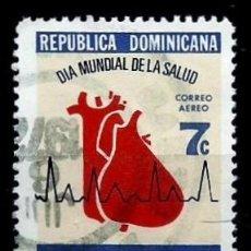 Sellos: REP. DOMINICANA SCOTT: C193-(1972) (CORREO AÉREO) (DIA MUNDIAL DE LA SALUD) USADO. Lote 191930748