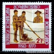 Sellos: REP. DOMINICANA SCOTT: C213-(1973) (CORREO AÉREO) (LORD BADEN-POWELL) USADO. Lote 191930897