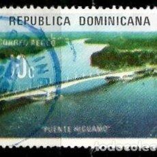 Sellos: REP. DOMINICANA SCOTT: C217-(1974) (CORREO AÉREO) (PUENTE HIGUAMO) USADO. Lote 191930968
