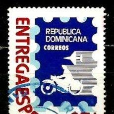 Sellos: REP. DOMINICANA SCOTT: E11-(1979) (ENTREGA ESPECIAL) (MENSAJERO Y AVIÓN) USADO. Lote 191931331